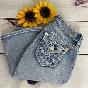 REQUEST Blue Boot Cut Light Washed Jeans